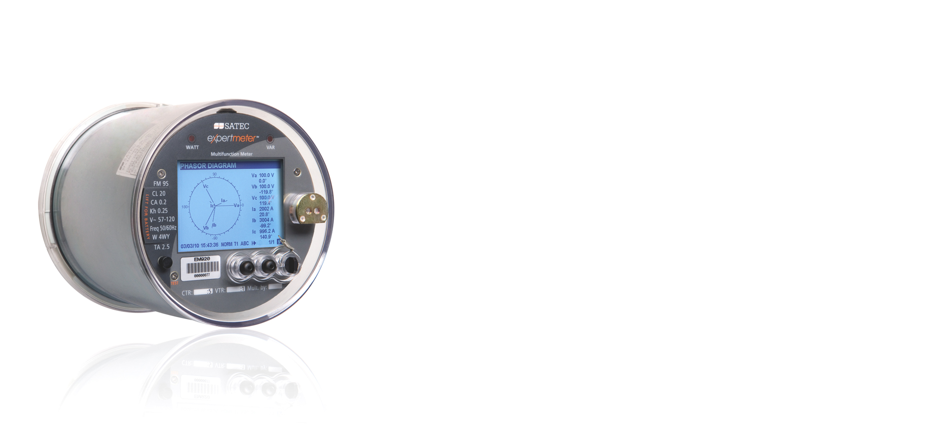 The SATEC Model EM920 eXpertmeter is an advanced energy analyzer in a socket meter with precise measurement and expansion capabilities.